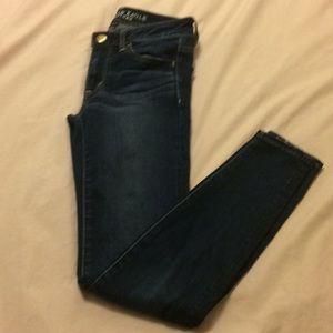 AE Dark Wash Skinny Jeans/ Jeggings- Size 2